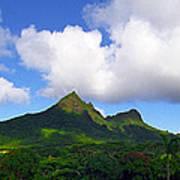 Mount Olomana Hawaii Art Print