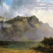 Mount Olympus. Lake St Clair. Tasmania The Source Of The Derwent Art Print