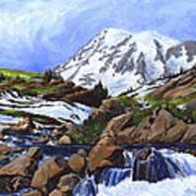 Mount Rainier From Edith Creek Art Print