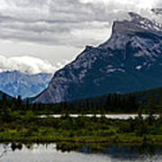Mount Rundle And Vermilion Lake Art Print