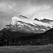 Mount Rundle At Banff National Park Art Print