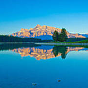 Mount Rundle At Jack Lake Art Print
