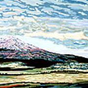 Mount Shasta California Art Print by David Skrypnyk