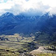 Mount St. Helen's Cloud Kissed Art Print