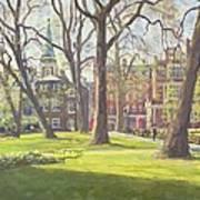 Mount Street Gardens, London Oil On Canvas Art Print