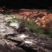 Mount Trashmore - Series Iv - Painted Photograph Art Print