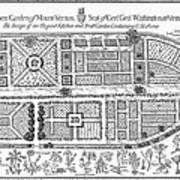 Mount Vernon: Garden Art Print