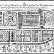 Mount Vernon: Garden Art Print by Granger