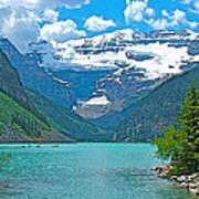 Mount Victoria Rises Above Lake Louise In Banff Np-alberta Art Print