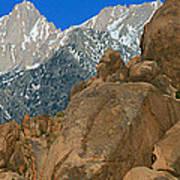 Mount Whitney, Lone Pine, California Art Print