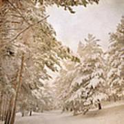Mountain Adventure In The Snow Art Print