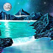 Mountain Bay Art Print