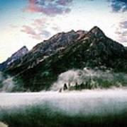 Mountain By The Lake Art Print