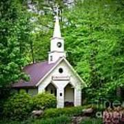 Mountain Chapel Art Print by Crystal Joy Photography