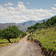 Mountain Dirt Road In Northern Crete Art Print