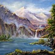 Mountain Falls Art Print