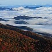 Mountain Fog - Blue Ridge Parkway Art Print
