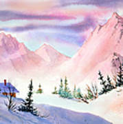 Mountain Glow Art Print