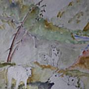 Mountain Goats In Spearfish Canyon Art Print
