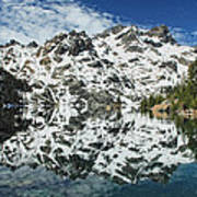 Mountain In The Mirror Art Print