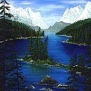 Mountain Lake Canada Art Print