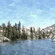 Mountain Lake Retreat Art Print