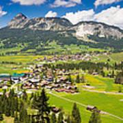 Mountain Landscape With Village In The Allgaeu Alps Austria Art Print