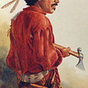 Mountain Man Art Print by Randy Follis
