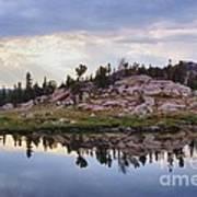 Mountain Mirror View Art Print