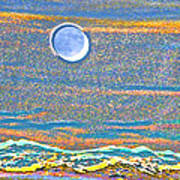 Mountain Moonrise 2 Art Print