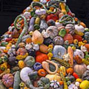 Mountain Of Gourds And Pumpkins Art Print