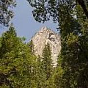 Mountain Peak In Yosemite National Park Art Print