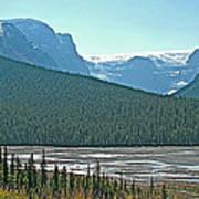Mountain Peaks From Icefields Parkway-alberta Art Print