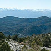 Mountain Range, White Mountains Art Print