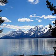 Mountain Reflection On Jenny Lake Print by Dan Sproul