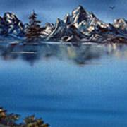Mountain Ridge Horizon Art Print by Cynthia Adams