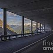 Mountain Road And Tunnel Art Print