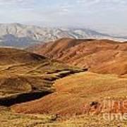 Mountain Scenary Near Zanjan In Iran Art Print
