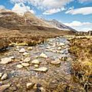 Mountain Stream From Beinn Eighe Art Print