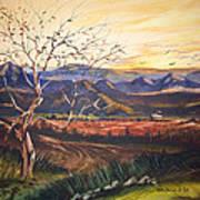 Mountain Sun Art Print