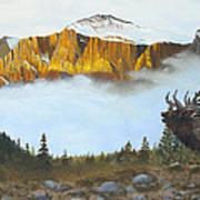 Mountain Sunrise Echoes Art Print