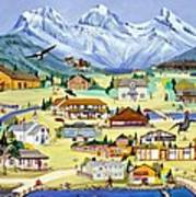 Mountain Town Of Canmore Art Print