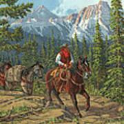 Mountain Traveler Art Print