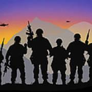 Mountain Troop Art Print