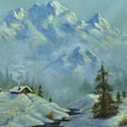 Mountain View With Creek Art Print