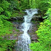 Mountain Waterfall I Art Print