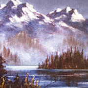 Mountains And Inlet Art Print