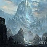 Mountains  Castles  Fantasy   Artwork   Art Print