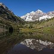 Mountains Co Maroon Bells 16 Art Print