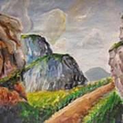 Mountains Landscape Art Print
